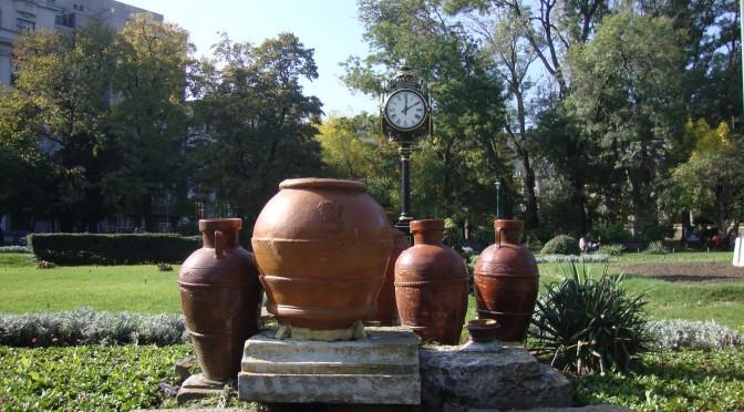 vase romane-parc cismigiu