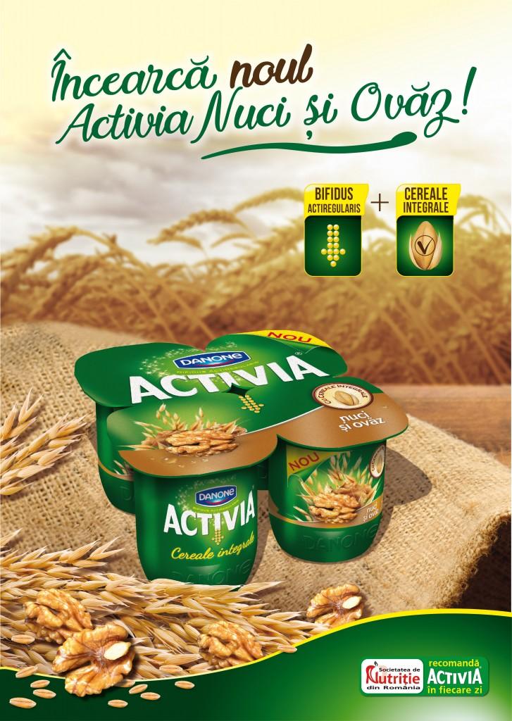 iaurt activia Cereale Integrale cu Nuci si Ovaz